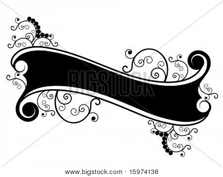decorative scroll banner vector