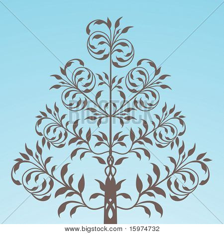 folkart tree vector
