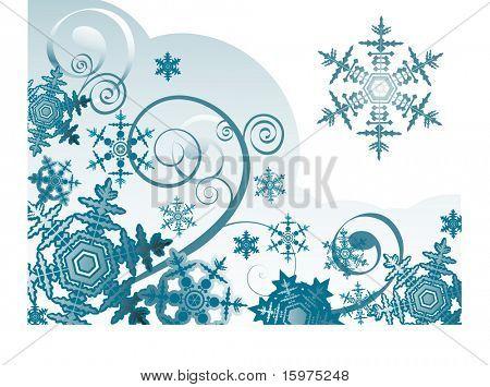 floco de neve com bobinas