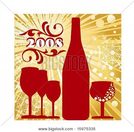 celebrate 2008 tattoo  filigree burst and snowflakes
