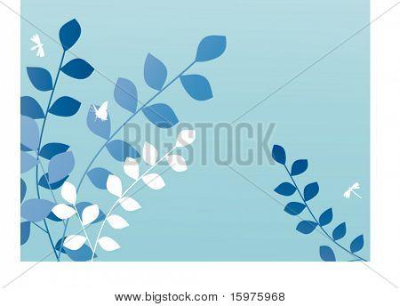 frontera de hoja azul