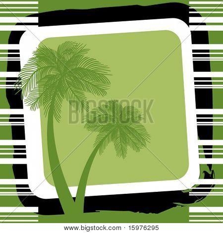 palmtrees in green