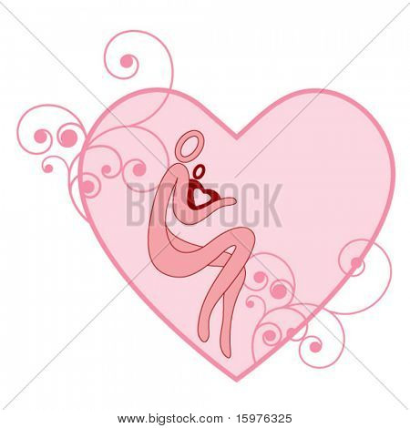 mother and child in heart