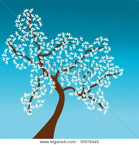 tree with white leaves (change colors easily)