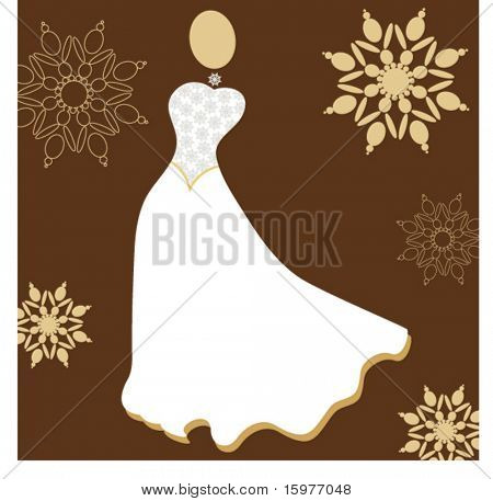 wedding dress in ivory and pearls