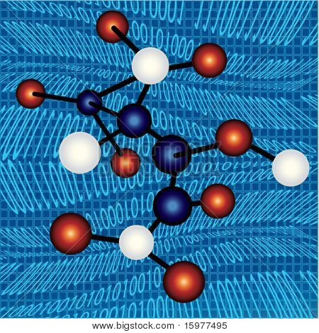 moléculas sobre código binário