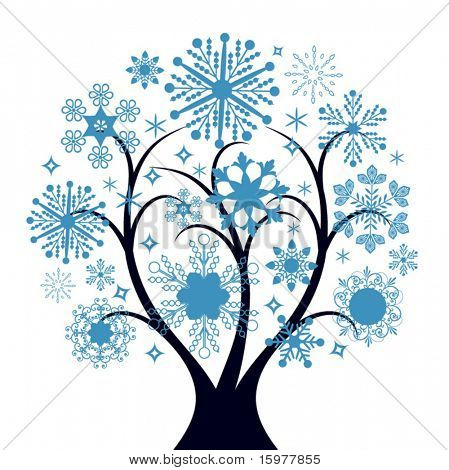 snow tree (easily change colors)