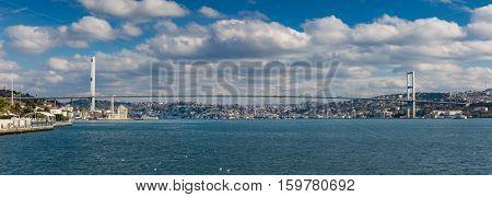 Istanbul Bosphorus Bridge large panorama