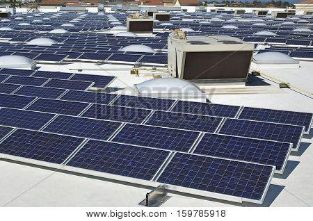 Solar Panels at Solar Power Plant