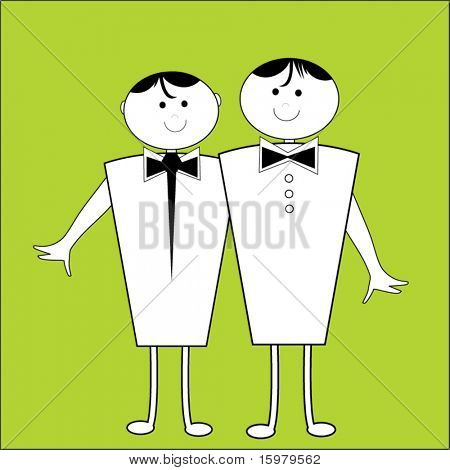 two male cartoon characters - gay marriage