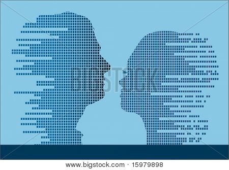 Technologic man and woman