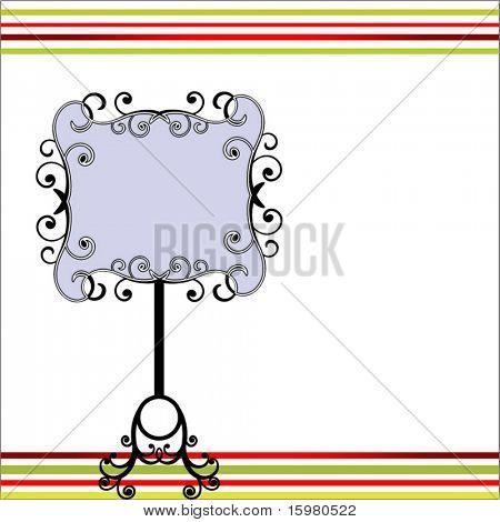 ornate sign