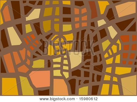 geometric cityplan