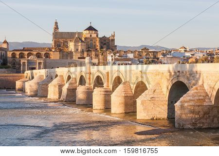 Roman bridge of Cordova. Placed on the river The Guadalquivir to his step along Cordova. Acquaintance like