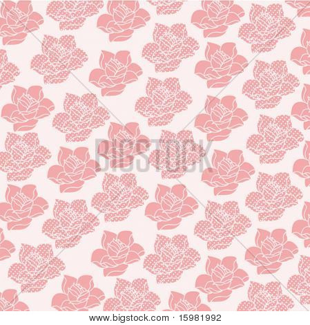 rose pattern - one plain one with poka-dots (separate for other uses)