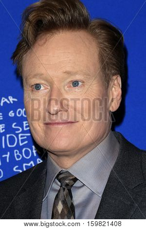 LOS ANGELES - DEC 1:  Conan O'Brien at the Children's Defense Fund - 26th Beat The Odds Awards at Beverly Wilshire Hotel on December 1, 2016 in Beverly Hills, CA
