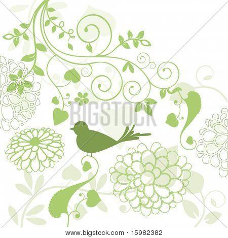 foliage with bird