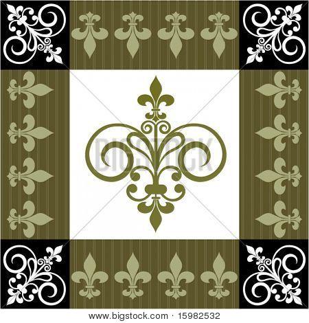 Fleur de lis frame pattern
