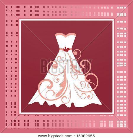 wedding dress in frame