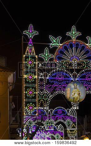 Lights full of color for the St. Albert saint's day