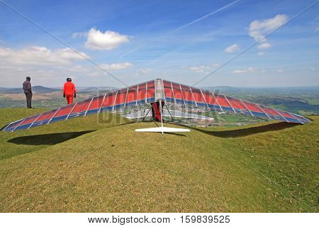 Hang Glider rigged and ready for flight