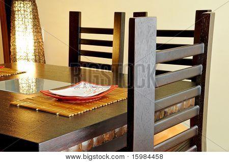 Interior design series: dining room closeup