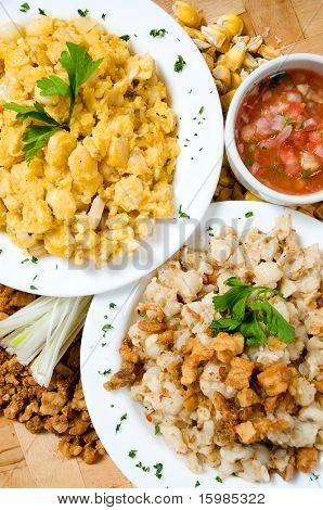 Ecuadorian food series: baked corn beans with pork