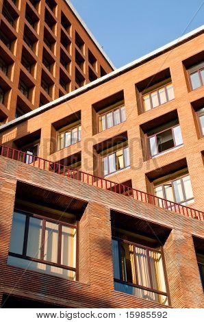 Architecture concept, brick buildings