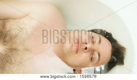 Young Man In Bath