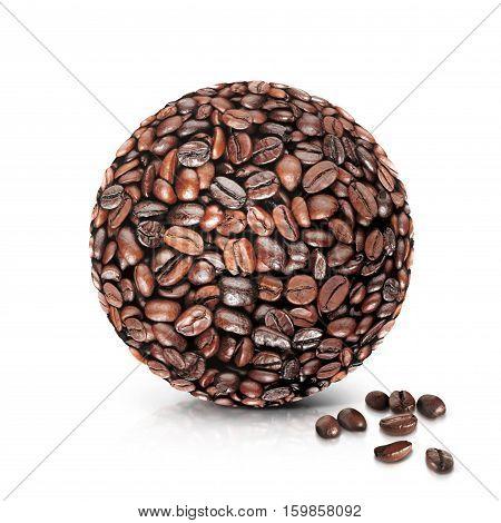 coffee world 3D illustration on white background
