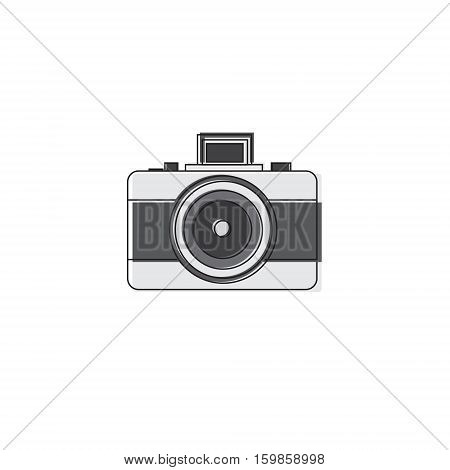 Photo Camera Icon Thin Line Vector Illustration