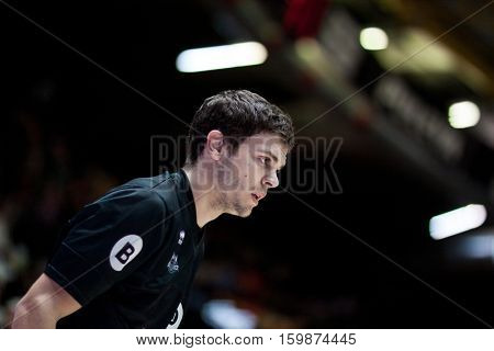 VALENCIA, SPAIN - DECEMBER 3: Dejan Todorovic during spanish league match between Valencia Basket and Bilbao Basket at Fonteta Stadium on December 3, 2016 in Valencia, Spain