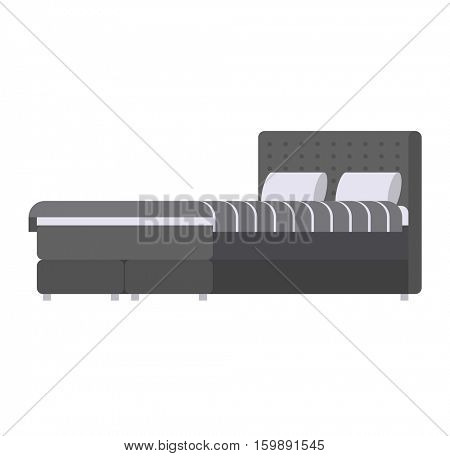 Sleeping bed vector.