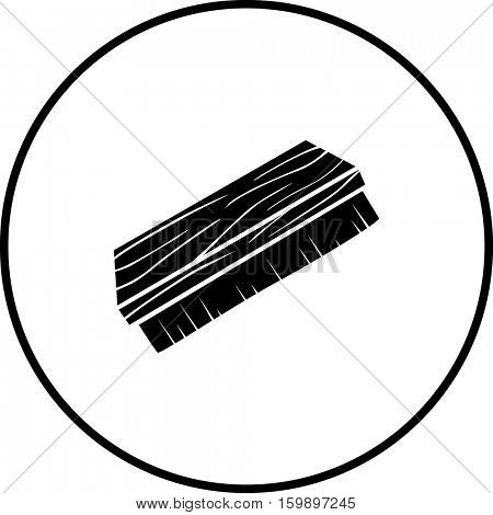 shoe brush symbol