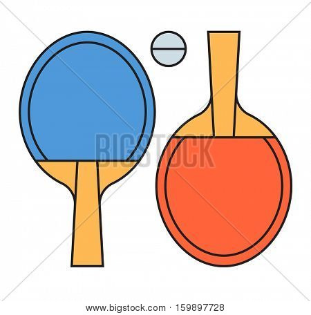 Table tennis ping pong vector illustration