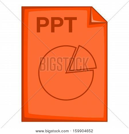 PPT file icon. Cartoon illustration of PPT file vector icon for web