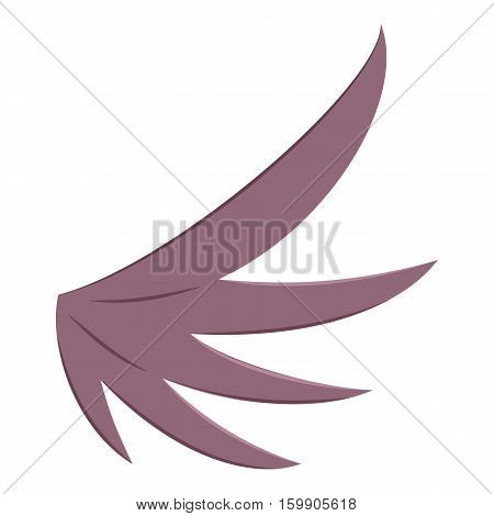 Bird wing icon. Cartoon illustration of bird wing vector icon for web