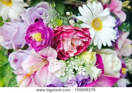 Bunch Of Flowers Arrangement For Decoration
