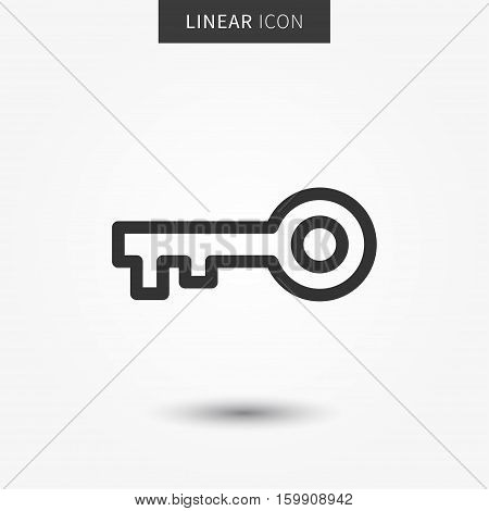 Isolated key protection symbol. Security line concept. Password graphic design.