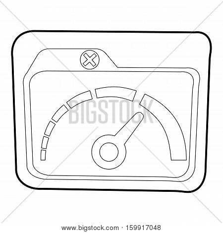 Indicator icon. Outline illustration of indicator vector icon for web