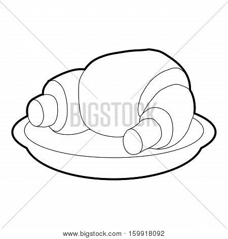 Croissant icon. Outline illustration of croissant vector icon for web