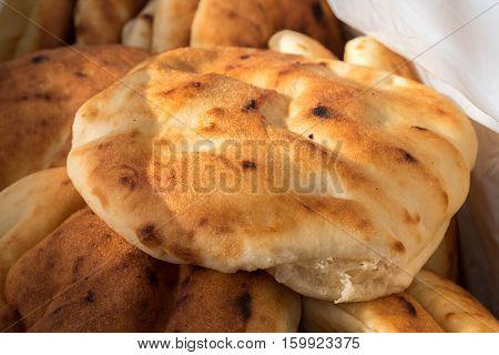 Tradition Arabic Bread - Pita, At City Market