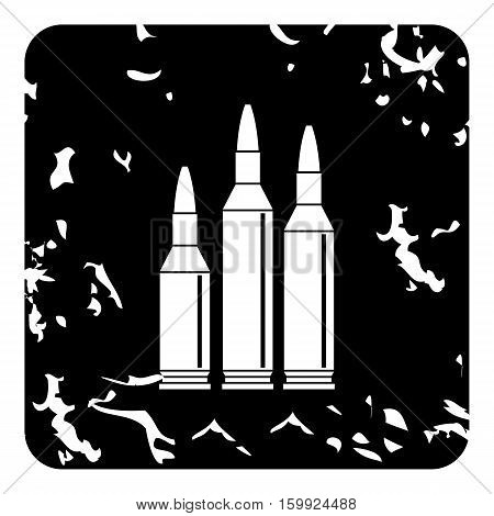 Bullets icon. Grunge illustration of bullets vector icon for web