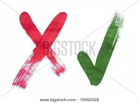 painted symbols isolated on white background