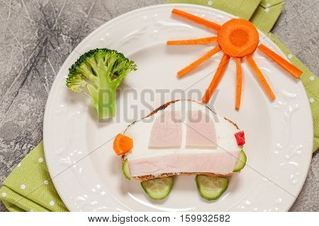 Funny sandwich car shape for a child