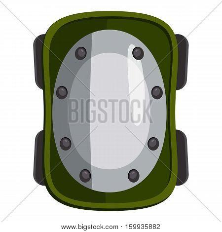 Knee pad icon. Cartoon illustration of knee pad vector icon for web