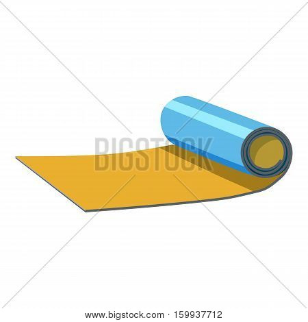 Rolled up mat icon. Cartoon illustration of rolled up map vector icon for web