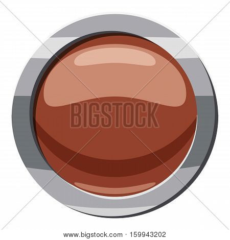 Brown button icon. Cartoon illustration of brown button vector icon for web