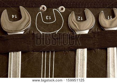 Set of Screws in tools box, Industrial Concept