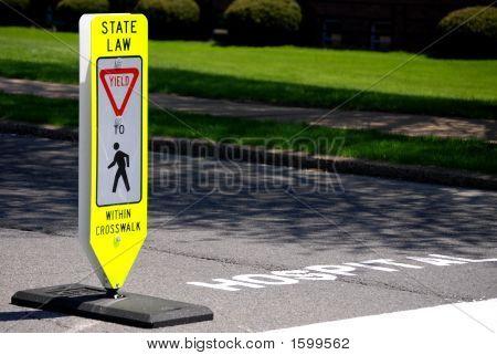 Pedestrian Yield Sign